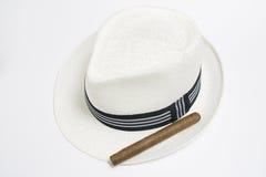 Branco do chapéu Fotos de Stock