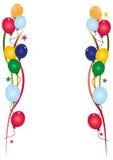 Branco do convite do aniversário Fotos de Stock Royalty Free