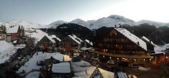 Branco do esqui de Prato Nevoso imagens de stock