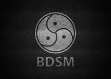 Branco do sinal de Bdsm gravado no couro preto ilustração royalty free
