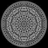 Branco do teste padrão da mandala Fotos de Stock Royalty Free