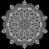 Branco do teste padrão da mandala Foto de Stock Royalty Free