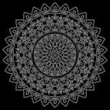 Branco do teste padrão da mandala ilustração stock