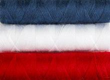 Branco e azul vermelhos foto de stock