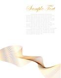 Branco e fundo abstrato do ouro Ilustração Stock