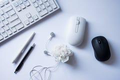 Branco e preto - componentes de computador foto de stock