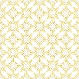 Branco e teste padrão sem emenda da curva do ouro Foto de Stock Royalty Free