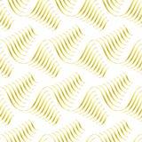 Branco e teste padrão sem emenda da curva do ouro Imagem de Stock