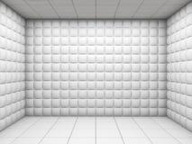 Branco esvazie o quarto acolchoado Foto de Stock Royalty Free