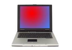 Branco isolado computador portátil Fotos de Stock