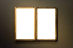 Branco mínimo do projeto de Art Museum Frame Wall Ornate isolado foto de stock royalty free