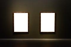 Branco mínimo do projeto de Art Museum Frame Wall Ornate isolado imagens de stock