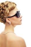 Branco moderno do casamento hairstyle.on Imagem de Stock