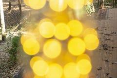 Branco morno conduzido incandescente retro clássico da lâmpada elétrica no fundo do borrão, ampola do vintage foto de stock royalty free