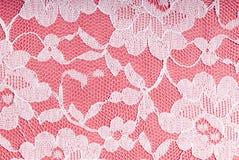 Branco na cor-de-rosa Foto de Stock