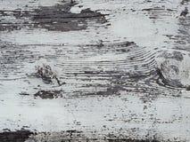 Branco obsoleto superfície pintada da madeira Imagem de Stock