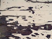 Branco obsoleto superfície pintada da madeira Fotos de Stock