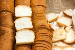 Branco ou SANDUÍCHE dos pães pequeno Fotografia de Stock