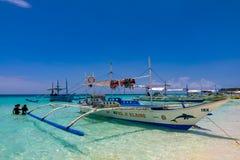 Branco, praia, Boracay, Filipinas imagem de stock