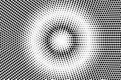 Branco preto inclinação pontilhado centrado Fundo da reticulação ilustração stock