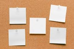 Branco quadrado vazio folha fixada Imagens de Stock