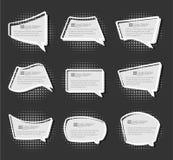 Branco simples dos desenhos animados da etiqueta da etiqueta do stiker da banda desenhada Imagens de Stock