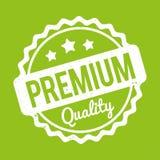 Branco superior do carimbo de borracha da qualidade em um fundo verde Imagens de Stock