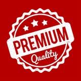 Branco superior do carimbo de borracha da qualidade em um fundo vermelho Imagens de Stock Royalty Free