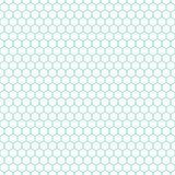 Branco & teste padrão do favo de mel do aqua, fundo sem emenda da textura Fotos de Stock
