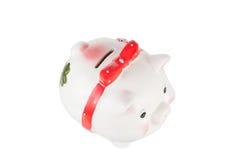 Branco uma caixa da porco-moeda Imagens de Stock