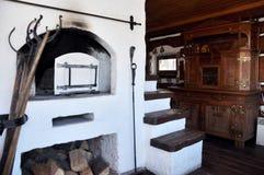 Branco velho do fogão do russo fotos de stock