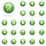 Branco verde da bolha ilustração stock