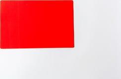 Branco vermelho da almofada Imagem de Stock Royalty Free