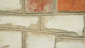 Branco vermelho velho da parede de tijolo filme