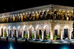 Brancoveanu宫殿在布加勒斯特,威尼斯式建筑元素之外的Mogosoaia 免版税库存照片