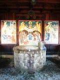 Brancoveanu kloster arkivbilder