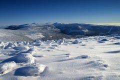 Brancura em montanhas gigantes/Karkonosze Foto de Stock Royalty Free