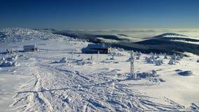 Brancura em montanhas gigantes/Karkonosze Imagem de Stock