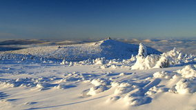 Brancura em montanhas gigantes/Karkonosze Fotografia de Stock