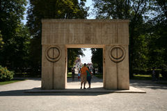 Brancusi's Gate of the Kiss Royalty Free Stock Image