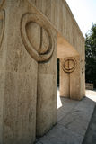 Brancusi's Gate of the Kiss Stock Image