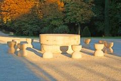 Brancusi: silence table Stock Photography