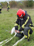 Brandövning Royaltyfri Bild