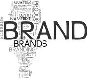 Brand. Word cloud on white background Stock Photo