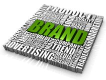 Brand. Group of Brand related words. Part of a series of business concepts Stock Images