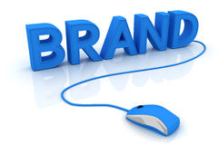Brand. This is a 3D rendered picture Stock Image