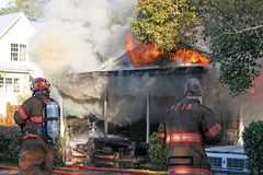 Brand 2 van het huis Royalty-vrije Stock Afbeelding