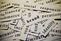 Brand. Words related with business concept Royalty Free Stock Photos