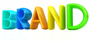 brand 3d colorful text Stock Image