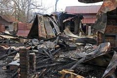 Brand 6 van het huis Royalty-vrije Stock Afbeeldingen
